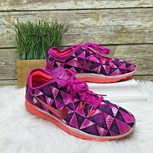 Nike Free 5.0 Purple & Pink Mesh Running Sneakers